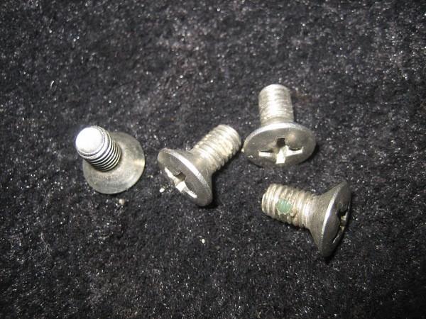 4x Schraube für Tür / Schließkeil
