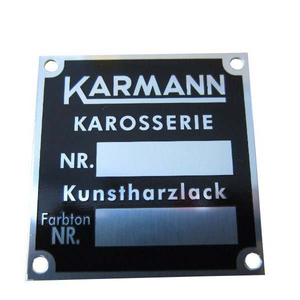 Lackschild KARMANN